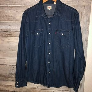 Levi's Denim Button Down Shirt Size XL Men's